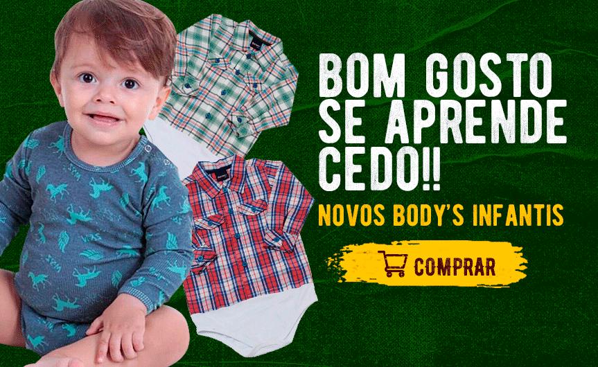 Body Infantil Moda Country