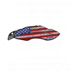 Adesivo Tuff Para Chapéu Pena Usa
