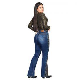 Body Buphallos Jeans Brilhante Dourado