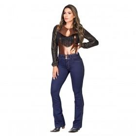Body Buphallos Jeans Cobre De Brilho
