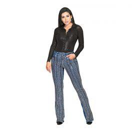 Body Buphallos Jeans Preto Glamuroso