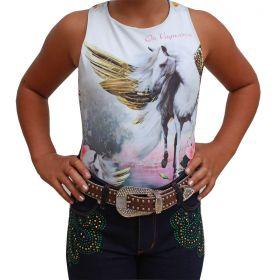 Body Infantil Os Vaqueiros Estampa De Cavalo