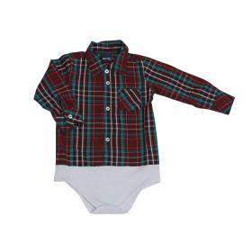 Body Kenttana Baby Xadrez Bordô