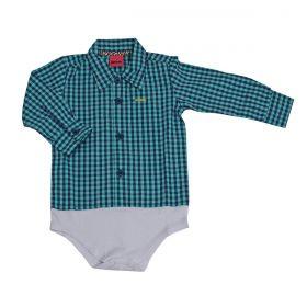 Body Kenttana Baby Xadrez Turquesa