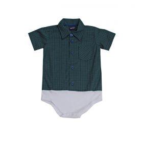 Body Kenttana Baby Xadrez Verde Musgo