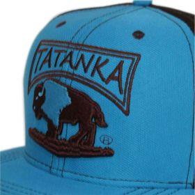 Boné Aba Reta Azul Com Tela Marrom Tatanka a3510f81a22