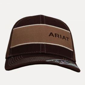 Boné Ariat Masculino Marrom Aba Curva a81789fc330