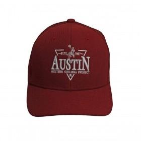 Boné Austin Western Infantil Bordô
