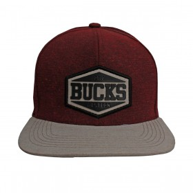Boné Bucks Western Aba Reta Bege Bordô