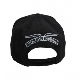 Boné Bucks Western Masculino Preto Aba Reta