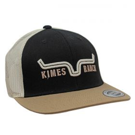 Boné Kimes Ranch Importado Preto Com Bege