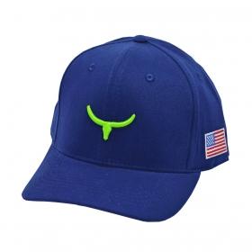 Boné Os Moiadeiros Azul Com Logo Verde