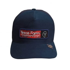 Boné Texas Farm Azul Live The