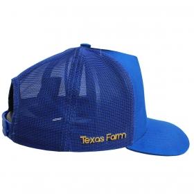 Boné Texas Farm Azul Logo Amarelo