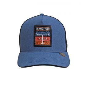 Boné Texas Farm Azul Tela Preto