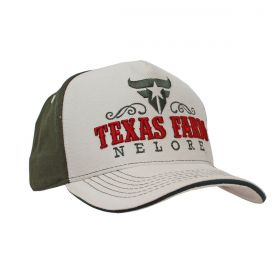 Boné Texas Farm Bege e Verde