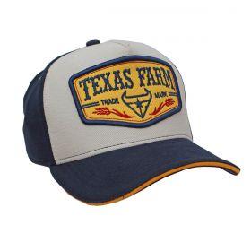 Boné Texas Farm Bege Marinho