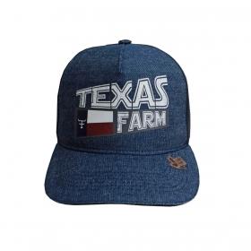 Boné Texas Farm Jeans De Tela