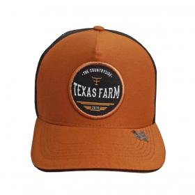 Boné Texas Farm Marrom Tela Preta