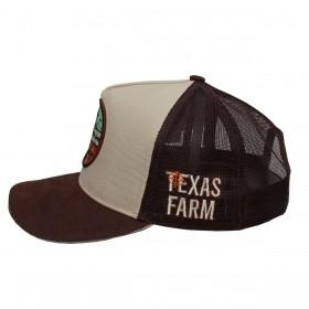 Boné Texas Farm Masculino Bege Com Marrom