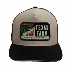 Boné Texas Farm Masculino Bege Com Verde