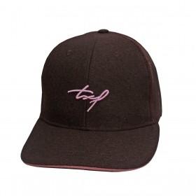 Boné Texas Farm Masculino Marrom Com Tela Logo Rosa