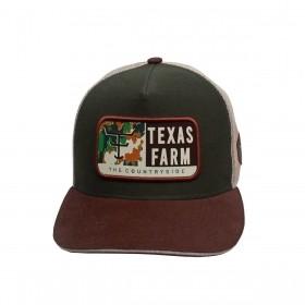 Boné Texas Farm Masculino Verde Com Marrom