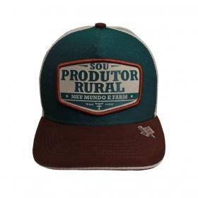 Boné Texas Farm Verde Produtor Rural