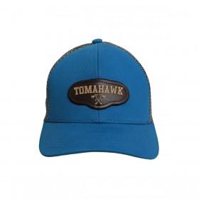 Boné Tomahawk Azul Tela Cinza