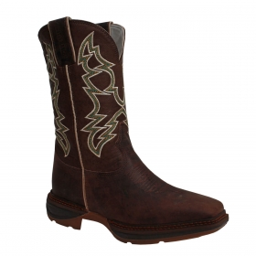 Bota Austin Ranch Gel Twister Work Café Cano Bordado