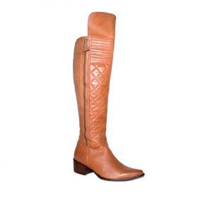 Bota Vimar Boots Feminina Couro Pinhão