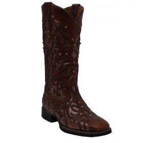 Bota Vimar Boots Feminina Café Brilho 874932b4d8d