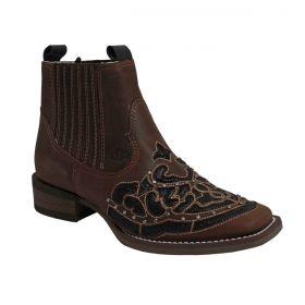 Botina Country Feminina Vimar Boots Marrom