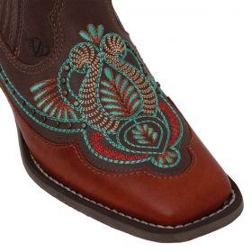 Botina Vimar Boots Feminina Havana Bordada