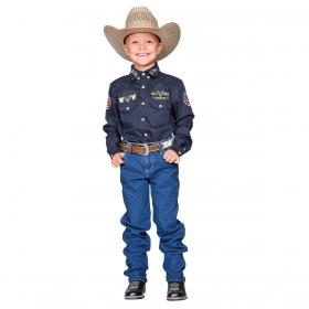Calça Bill Way Infantil Masculina Costura Branca