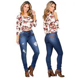 Calça Buphallos Jeans Feminina Skinny