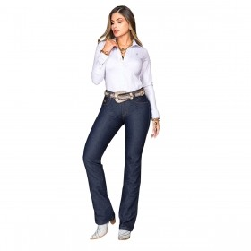 Calça Buphallos Jeans Flare Boot Cut Amaciada