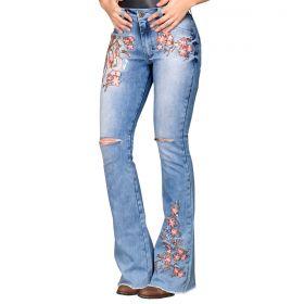 Calça Buphallos Jeans Flare Delave