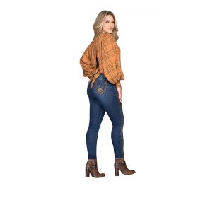 Calça Buphallos Jeans Skinny Bordada