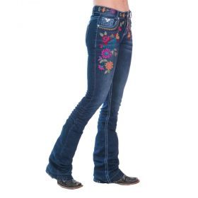 Calça Jeans Feminina Flowers Zenz