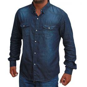 Camisa 2K Jeans Maculina Manga Longa