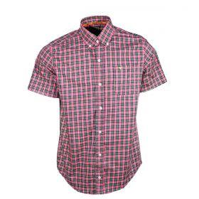 Camisa All Hunter Manga Curta Rosa E Verde