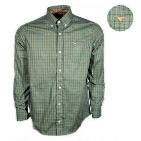 Camisa All Hunter Manga Longa Masculina Xadrez Verde Musgo