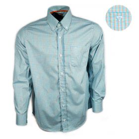 Camisa All Hunter Masculina Manga Longa Xadrez Azul