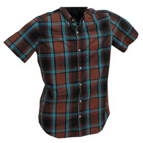 Camisa All Hunter Masculina Xadrez Marrom