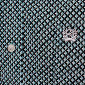 Camisa Cinch Maculina Importada Verde Turquesa Estampada