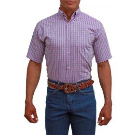 Camisa Classic Masculina Xadrez Lilás
