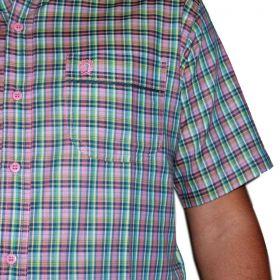 Camisa Classic Masculina Xadrez Rosa