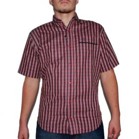 Camisa Classic Masculina Xadrez Vermelho