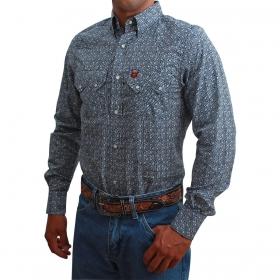 Camisa Masculina Os Vaqueiros Azul Com Turquesa